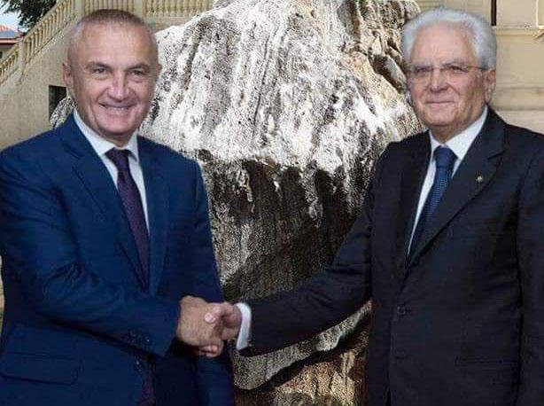 SALUTIAMO IL PRESIDENTE DELLA REPUBBLICA ITALIANA SERGIO MATTARELLA E IL PRESIDENTE DELLA REPUBBLICA ALBANESE LLIR META.
