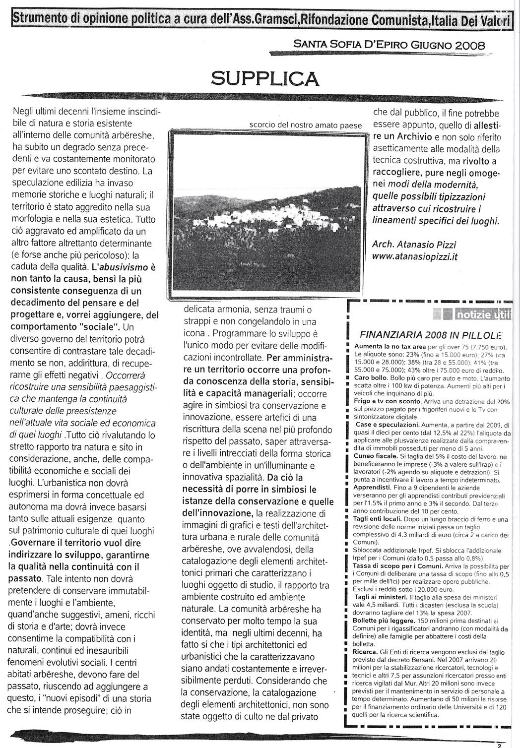 IL BANDITORE (Giugno 2008) SUPPLICA